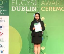 Good tidings: our student Wang Qingyang wins prize in the 30th EUCYS