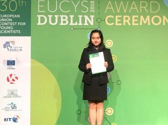 喜报:我校王清扬同学在30届欧盟青年科学家竞赛中获奖