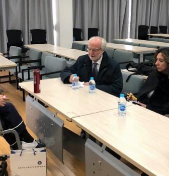 """Representatives of Convitto Nazionale """"Vittorio Emanuele II"""" di Roma, Italy visit our school"""