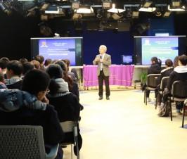 香港中文大学(深圳)朱世平教授来我校进行生涯规划课讲座