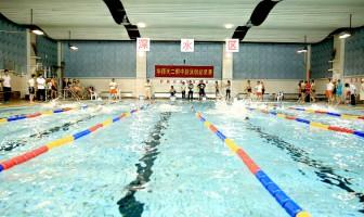 2017年华东师大二附中游泳创记录赛如约在游泳馆召开
