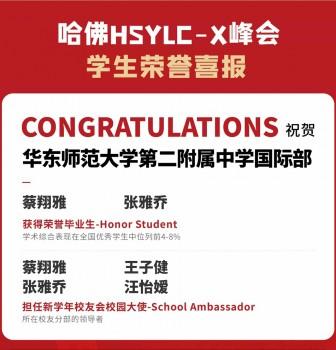 喜报:华二国际部学子在哈佛中美学生领袖峰会中荣获佳绩